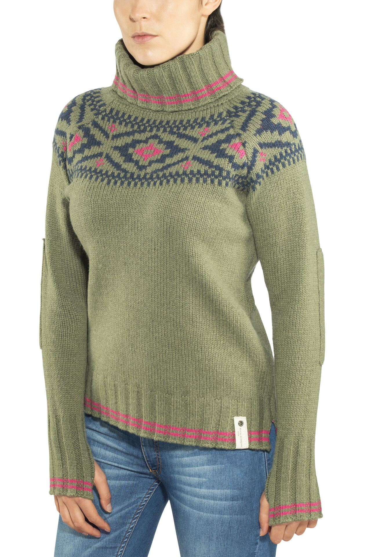 Devold W's W's W's Ona Round Sweater Lichen a1cd55